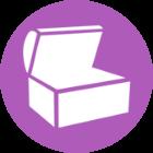 Afbeelding van een open kist
