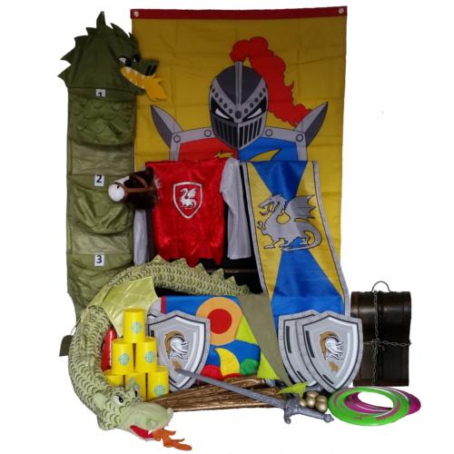 Afbeelding van de uitgepakte themakist ridders